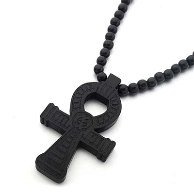 Egyptian Ankh Engraved Necklaces Vintage