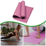 Cushiony, 6mm, Non-Slip &  Eco-Friendly Yoga Mat