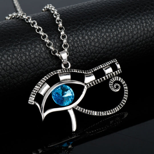 Beautiful Egyptian Eye of Horus Pendants Necklace Vintage
