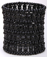 Multilayer Stretch Cuff Bracelet - Lisa Brown's Treasure & Gifts