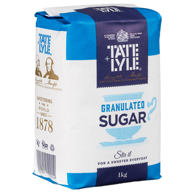 Tate & Lyle Granulated Pure Cane Sugar Bag 1kg