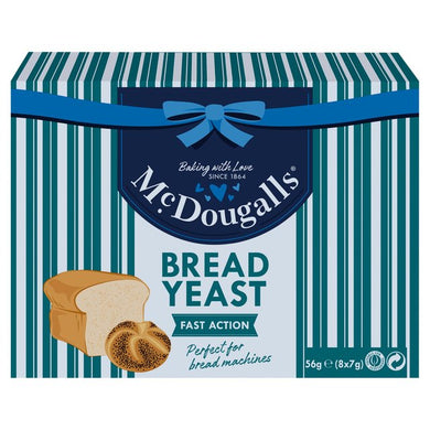 McDougalls Fast Action Dried Yeast Sachets  8x7g