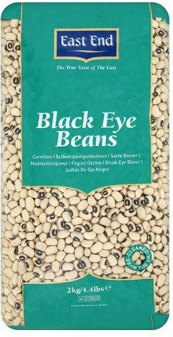 BLACK EYE BEANS 2KG  EAST END