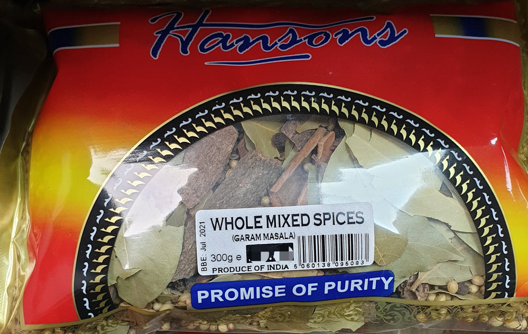 Whole Mix Spices  300g Hansons