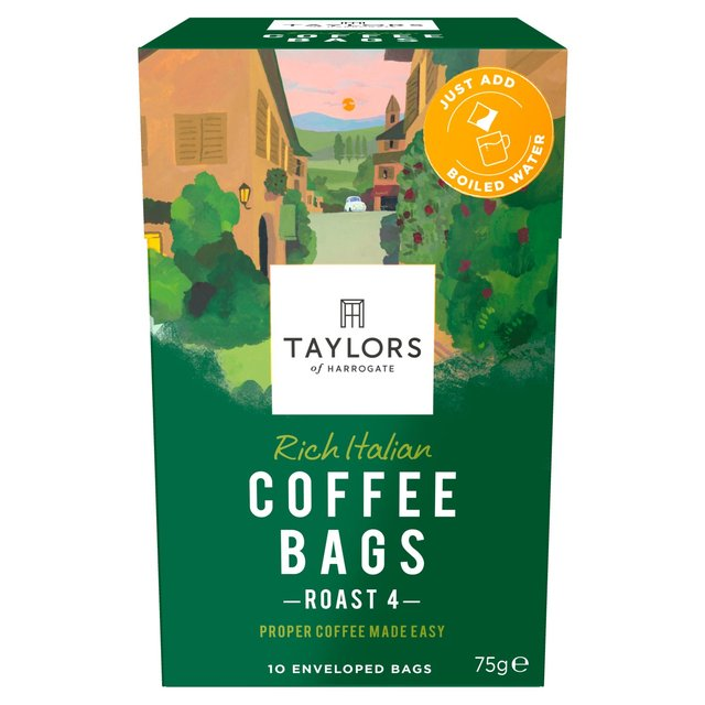 Taylors of Harrogate Rich Italian Coffee Bags 10s 75g