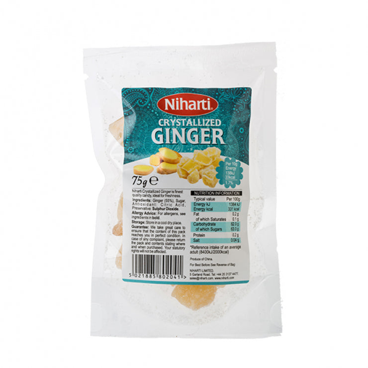 Niharti Crystallized Ginger 75g