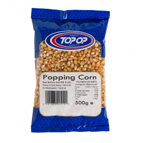 Top op  Popping Corn 500g / Pop Corn