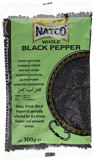 Natco Whole Black Pepper  300g