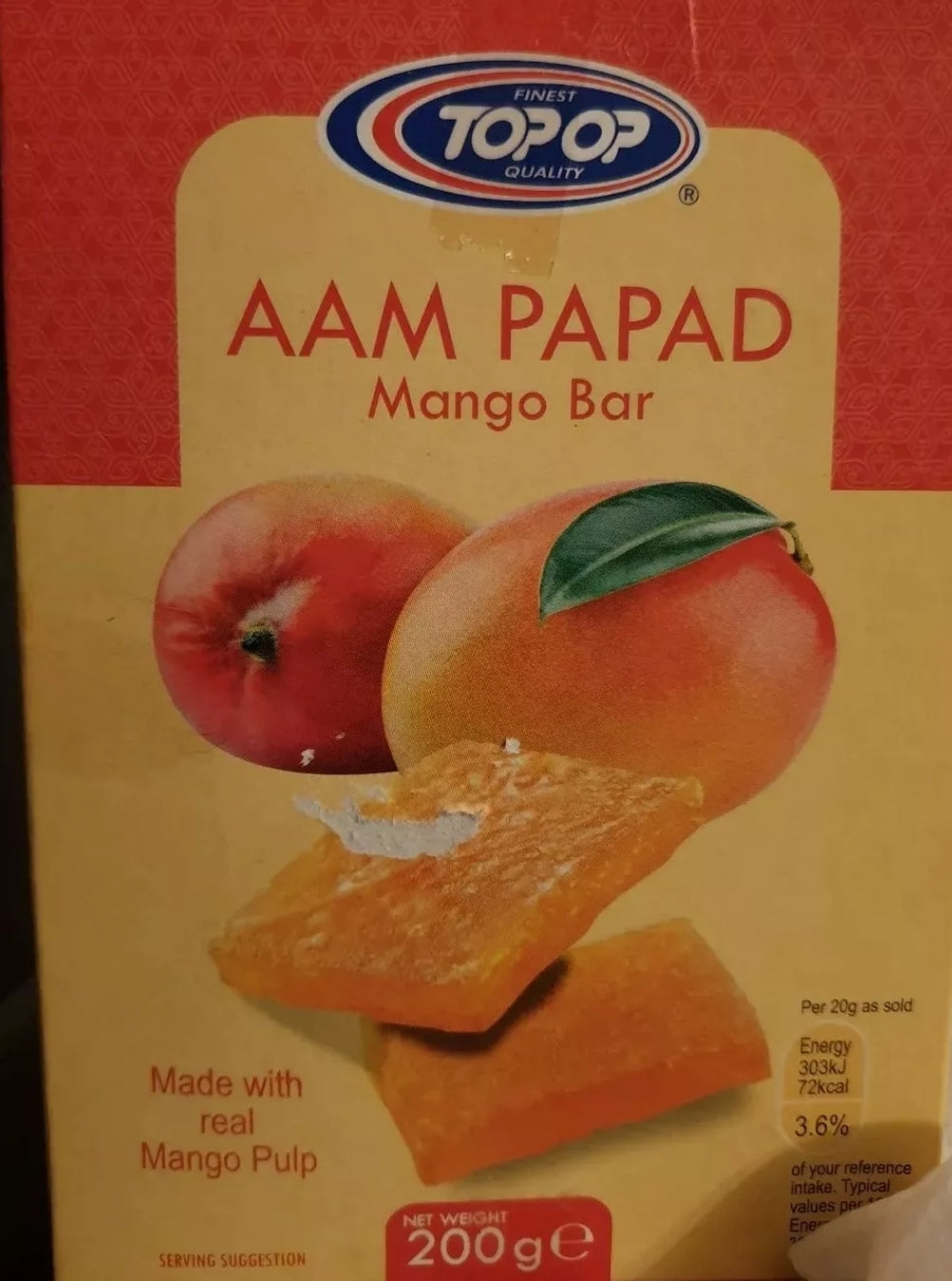 Topop AAM PAPAD MANGO BAR  200G PACK