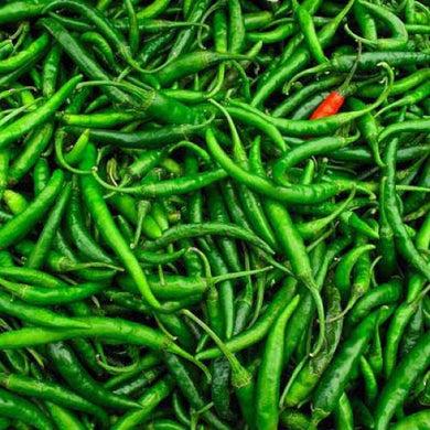 Fresh Green Chillies / Peppers HOT 2kg box -Direct from importer in UK