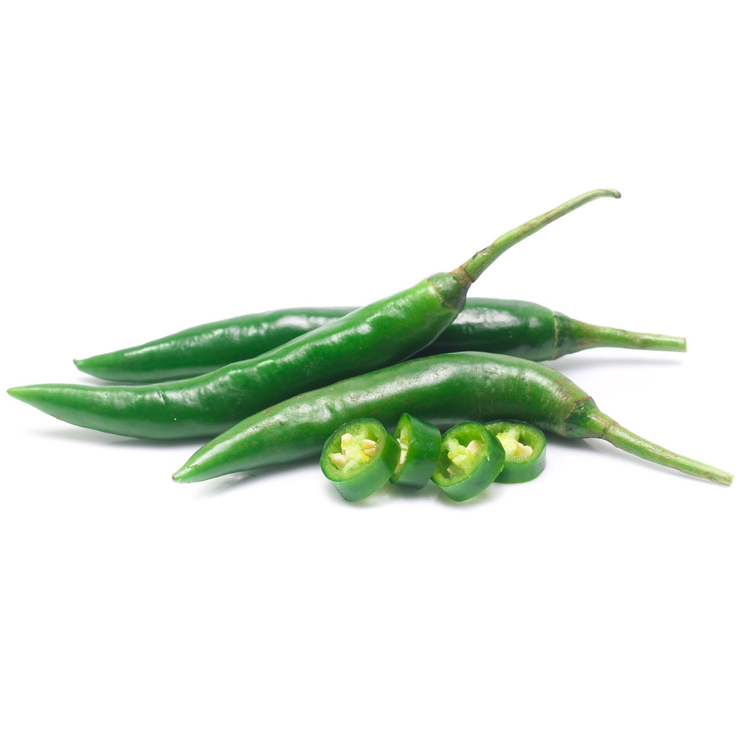 Fresh Green Chillies / Peppers MILD HOT 2kg box -Direct from importer in UK