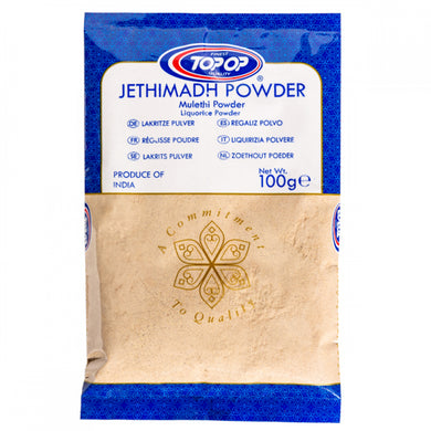 Top-Op Jethimadh Powder (Malethi) Liquorice Licorice Mulethi Root Sticks powder