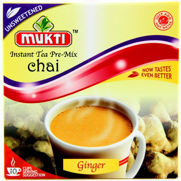 Mukti Instant Unsweetened Ginger Tea Mix (10 Sachets)