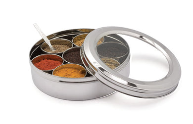 Spice Dabba | Spice Box/Masala Dabba with 7 Comparments Size 10