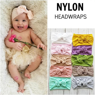 MIXIU Nylon Baby Headbands For 2018 New Big Hair Bows Baby Turba Elastic Hair Bands Birthday Party Gifts Hair Accessories