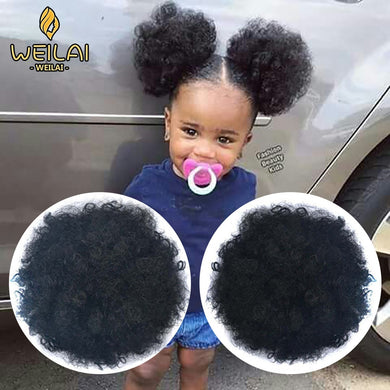 WEILAI Bun Chignon Hair Accessories postiche cheveux Afro Puff Soft Fried Head Elastic Hair Rope Synthetic Buns for Black Woman