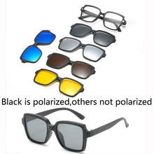 6 In 1 Custom Men Women Polarized Optical Magnetic Sunglasses Clip Magnet Clip on Sunglasses Polaroid Clip on Sun Glasses Frame