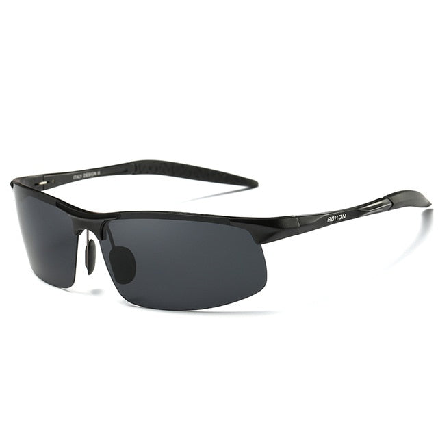AORON Driving Polaroid Sun Glasses Aluminum Frame Sports Sunglasses Men Polarized Driver Retro UV400 Anti-glare Goggles