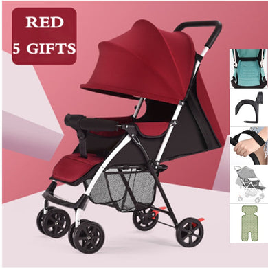 Ultra Low Price 3.5KG Baby Stroller Lightweight and Convenient Foldable for Four Season and Summer Baby Carriage with 5 Gifts