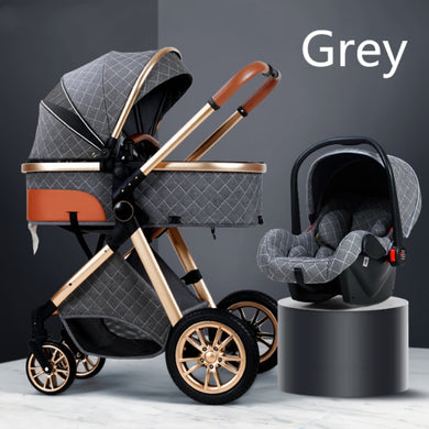 Multi-functional 2 in 1 Baby Stroller High landscape Can Sit Reclining Light Folding Two-way Eggshell design Baby Stroller
