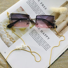 Fashion Rimless Sunglasses Women 2019 Trendy Small Rectangle Sun Glasses Summer Traveling Style UV400 Gold Brown Shades for men