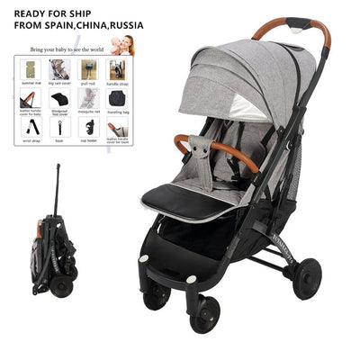 YOYAPLUS-pro Baby Stroller Airplane Portable Travel Pram Baby Cart Trolley Stroller Canopy With Zipper 10 Gifts Fast Delivery