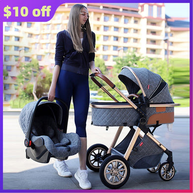 NEW High Quality 3 in 1 Baby Strollers Fashion Baby Carriage High Landview Infant Pram Traveling for Newborns Gift Fast Shipping