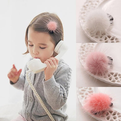 2Pcs Mini Hairball Kids Baby Hair Clips For Girls Pompom Children Hairpins Haarbandjes Barrettes Baby Hair Accessories