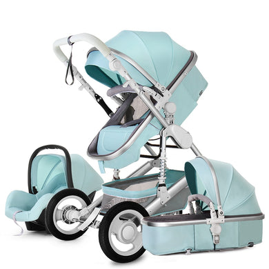 Luxury Baby Stroller 3 in 1 with Car Seat Portable Reversible High Landscape Baby Stroller Hot Mom Pink Stroller Baby Pram