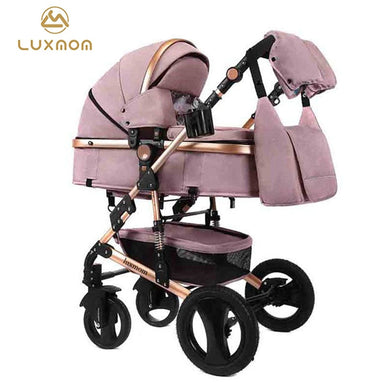 LUXMOM baby stroller 2in1 stroller bidirectional high-quality shock absorber Gift mom backpack can sit quality free in RU