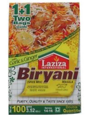 Laziza Biryani Spice Mix/ Masala /Seasonings 100g