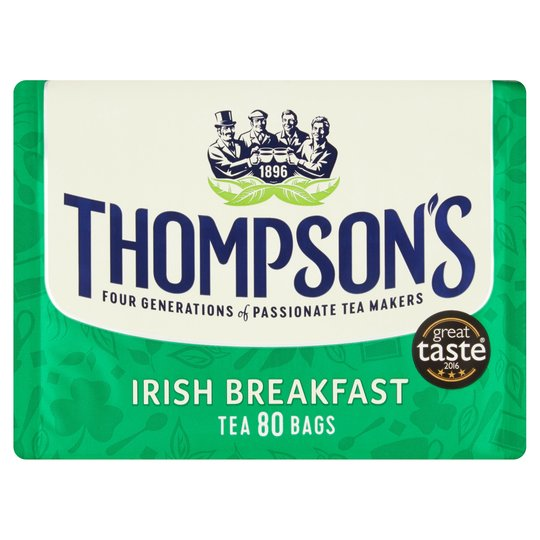 Thompsons Irish Breakfast Tea 80 Tea Bags 250G
