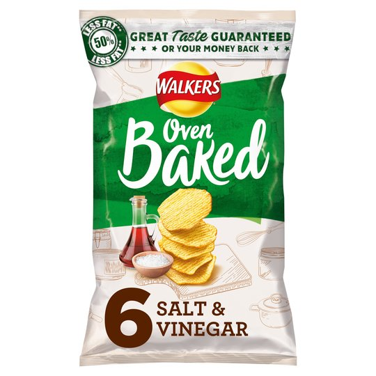 Walkers Baked Salt & Vinegar 6X25g