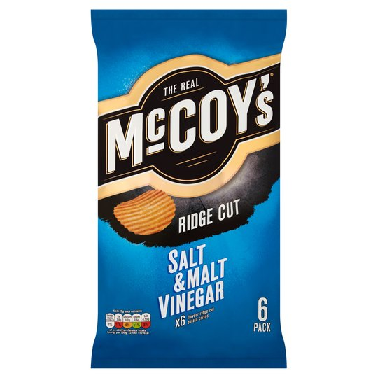 Mccoy's Salt & Malt Vinegar Crisps 6X25g