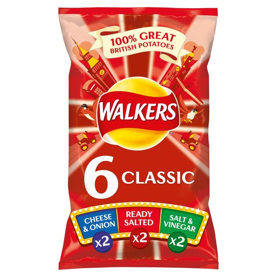 Walkers Variety Crisps 6X25g