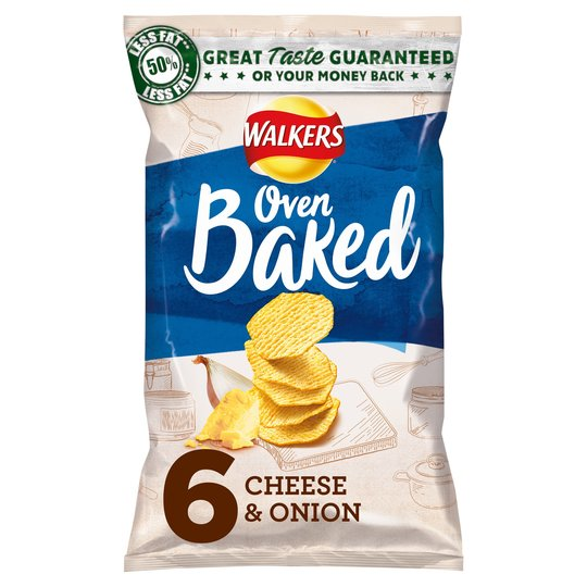 Walkers Baked Cheese & Onion 6X25g