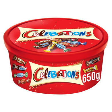 Celebrations Tub 650G  Christmas Gifts