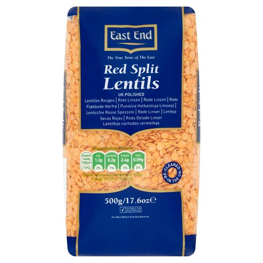 East End Red Lentils 500G