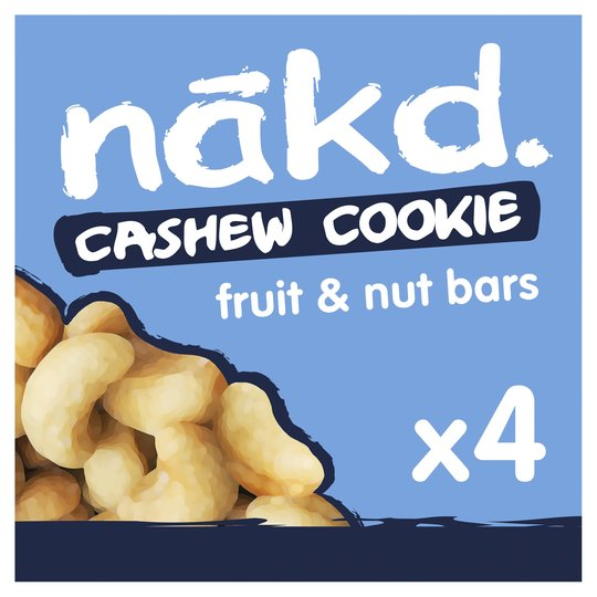 Nakd Cashew Cookie Bars 4 Pack 140G