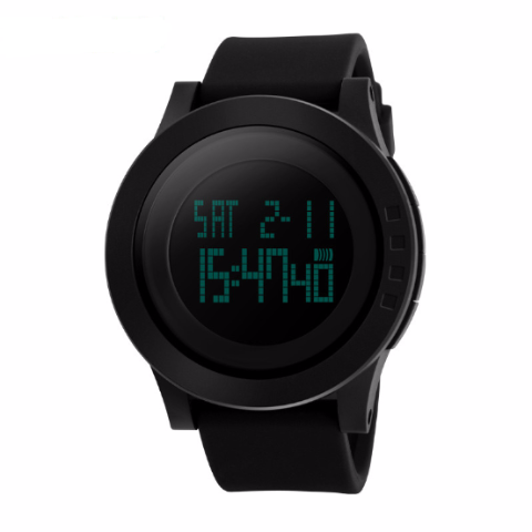 Men's Black LED Digital Sports Watch - Divine Blu
