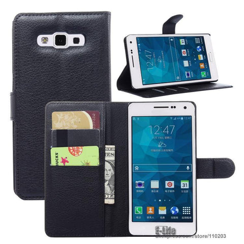 High Quality Wallet PU Leather Case For Samsung Galaxy - Divine Blu