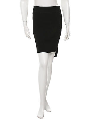 NEW ALEXANDER WANG Black Pencil Skirt with High-Low Hem - Size Small
