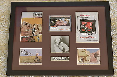 "Framed ""North by Northwest"" Collage with Eva Marie Saint Autograph (with COA)"