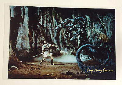 "Ray Harryhausen Autographed ""Jason and the Argonauts"" poster with COA"