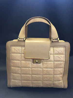 JIMMY CHOO Cassidy Quilted Leather Tan Handbag