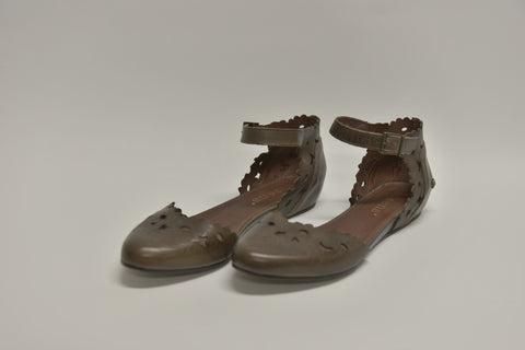 Handmade NEOSENS Brown Smock Cayetana Sandals (New)