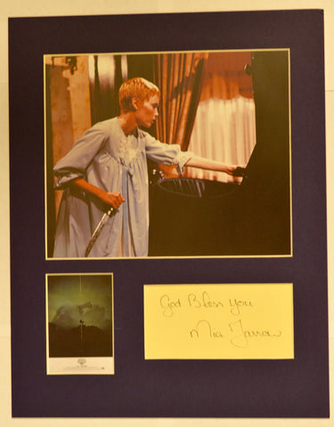 """Rosemary's Baby"" Collage with Mia Farrow Autograph (includes COA)"