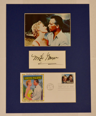 """South Pacific"" Collage with Mitzi Gaynor Autograph (includes COA)"