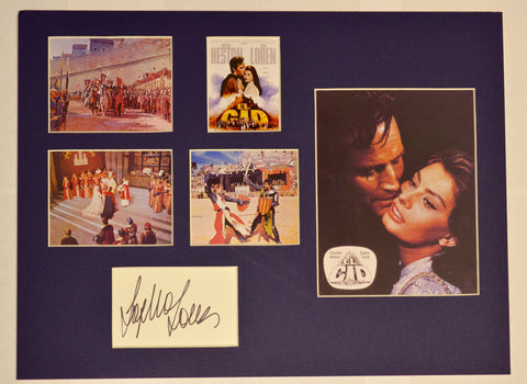 """El Cid"" Collage with Sophia Loren Autograph (includes COA)"