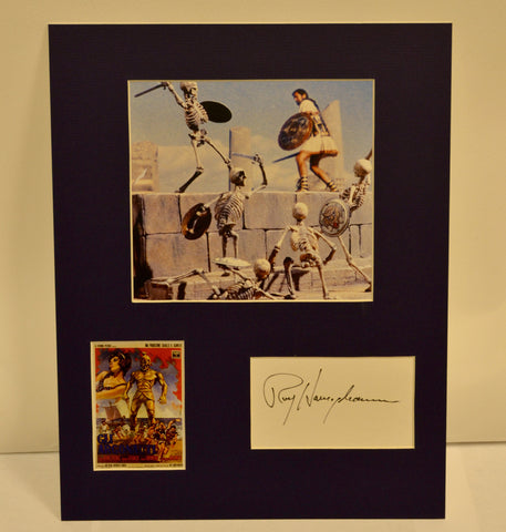 """Jason and the Argonauts"" Collage with Ray Harryhausen Autograph (includes COA)"
